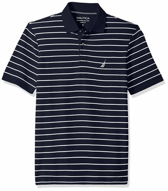 Nautica Men's Classic Fit Short Sleeve Striped Polo Shirt