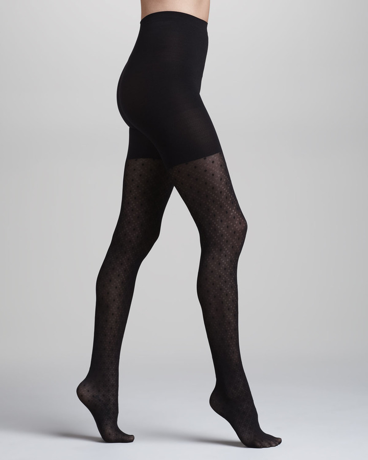 Spanx Tight-End Peek-A-Boo Patterned Tights, Dotted Lines