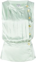 Chanel Pre Owned buttoned pleated blouse