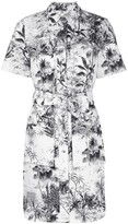 ADAM by Adam Lippes belted printed twill shirt dress