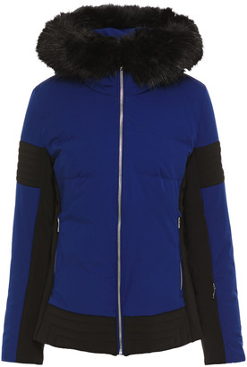 Fusalp Faux Fur-trimmed Two-tone Hooded Ski Jacket