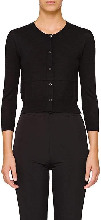 Prada Women's Virgin Wool Crop Cardigan