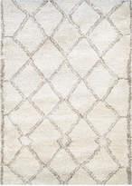 "Couristan Enclave Shag Kyoto Snowflake-Bronze 7'10"" x 11'2"" Area Rug"