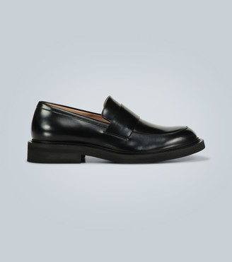 Bottega Veneta Rubber-sole leather loafers
