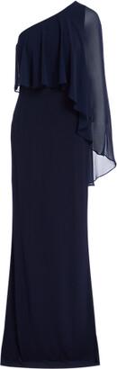 Ralph Lauren Jersey Cape Gown
