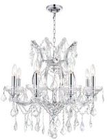 clear Orr 9-Light Candle Style Classic / Traditional Chandelier Astoria Grand Crystal Color