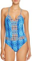 Bleu Rod Beattie Plunge X-Back One Piece Swimsuit