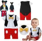 Batedan Baby Boy 3D Bowtie Photo Prop Romper Onesie Toddler Boy Cartoon Jumpsuit
