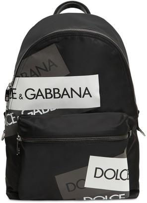 Dolce & Gabbana Logo Tech Canvas Backpack