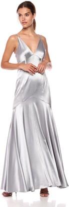 Jill Stuart Jill Women's Satin Gown with Corset Detailing