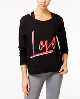 Material Girl Active Juniors' Love Graphic Sweatshirt, Only at Macy's