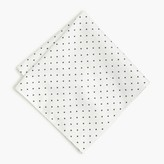 J.Crew Cotton pocket square in large dot