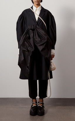Simone Rocha Bow Cotton-Taffeta Duster Coat