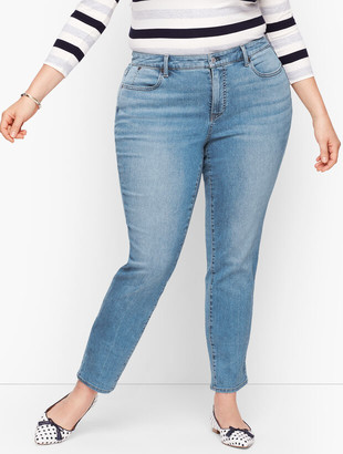 Talbots Plus Size Exclusive Slim Ankle Jeans -Curvy Fit - Wythe Wash