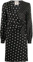 Semi-Couture Semicouture multi polka-dot print wrap dress