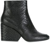 Robert Clergerie snakeskin effect boots - women - Leather - 36