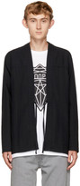 Naked & Famous Denim SSENSE Exclusive Black Broken Twill Kimono Shirt