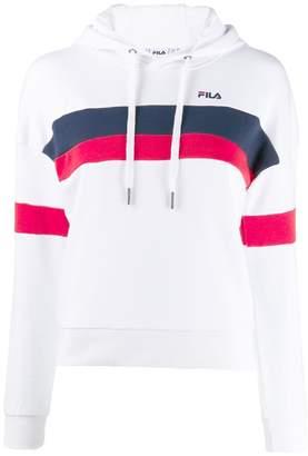 Fila striped logo print hoodie