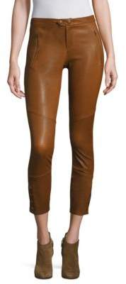 Joie Darnella Leather Cropped Leggings