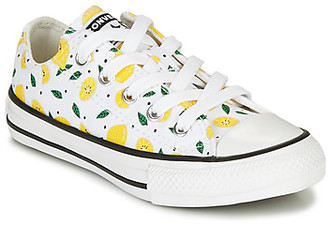 Converse CHUCK TAYLOR ALL STAR SUMMER FRUITS girls's Shoes (Trainers) in White