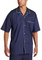 Nautica Men's Woven Dotted Pajama Shirt