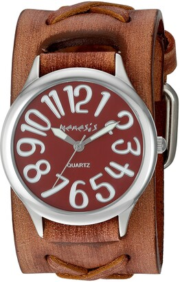 Nemesis Women's 'Always Summer Series' Quartz Stainless Steel and Leather Watch Color:Brown (Model: BSFX108R)