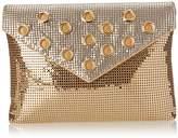 Whiting & Davis Metal Mesh Grommet Envelope Clutch