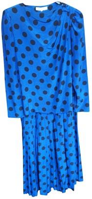 Lanvin Navy Silk Skirt for Women