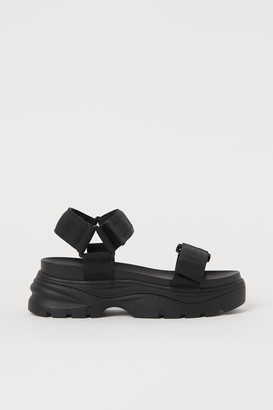 H&M Chunky-soled Sandals - Black