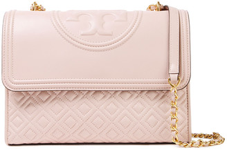 Tory Burch Embossed Quilted Leather Shoulder Bag