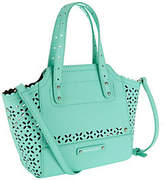 B. Makowsky As Is Perforated Saffiano Mini Leather Tote