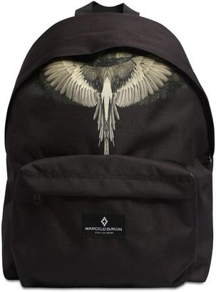 Marcelo Burlon County of Milan Wings Print Nylon Canvas Backpack
