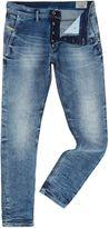 Diesel Kakee 853i Slim Carrot Fit Light Wash Acid Jeans