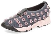 Christian Dior Embellished Mesh Slip-On Sneaker