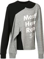 Mostly Heard Rarely Seen logo print slit sweatshirt - men - Cotton - XS