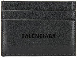 Balenciaga Cash Card Holder in Dark Grey & L Black | FWRD