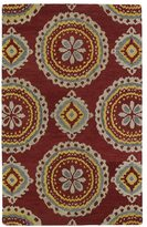 Leon Hand-tufted de Red Rug (8' x 10')