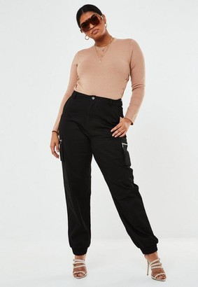 Missguided Plus Size Camel Lace Up Side Bodysuit