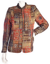 As Is Susan Graver Printed Tapestry Jacket with Stand Collar