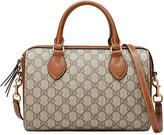 Gucci GG Supreme top handle bag - women - Leather/Canvas/metal/Microfibre - One Size