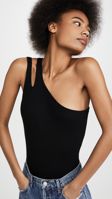 Autumn Cashmere Rib Slash One Shoulder Tank