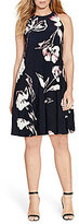 Lauren Ralph Lauren Plus Floral-Print Trapeze Dress