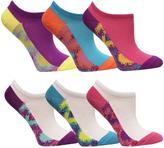 Fruit of the Loom Girls 6-Pack Of No-Show Tie-Dye Socks