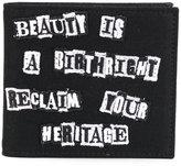 Valentino Garavani wallet with Jamie Reid patches