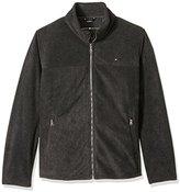 Tommy Hilfiger Men's Big Classic Zip Front Fleece Jacket
