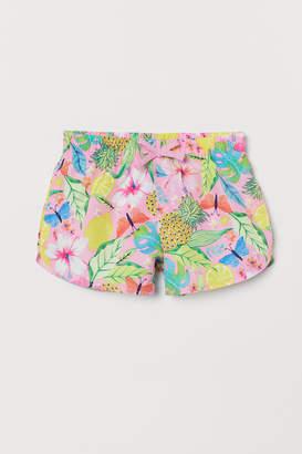 H&M Patterned Swim Shorts - Pink