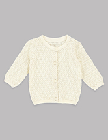 Autograph Pure Cotton Pointelle Cardigan