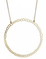Large Circle Hoop Gold Necklace