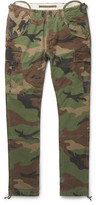 Polo Ralph Lauren Slim-fit Camouflage-print Cotton-canvas Cargo Trousers - Army green