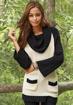 Say What Color-Block Roll-Neck Sweater